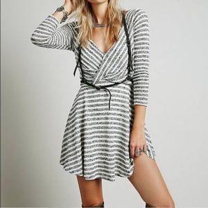 Free people maverick long sleeve stripe dress